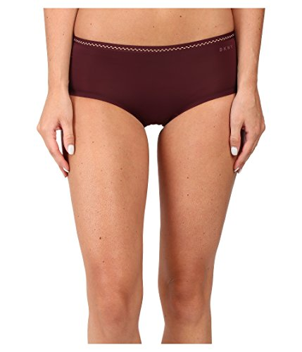 Cheap DKNY Women's Essential Microfiber Hipster, Raven/Glow, XL dkny bathing suits