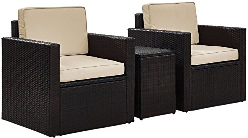 Crosley KO70055BR-SA Palm Harbor 3-Piece Conversation Set