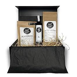 Bio Geschenkbox mit Premium Artikeln wie Kaffee, Olivenöl und Macadamianüsse