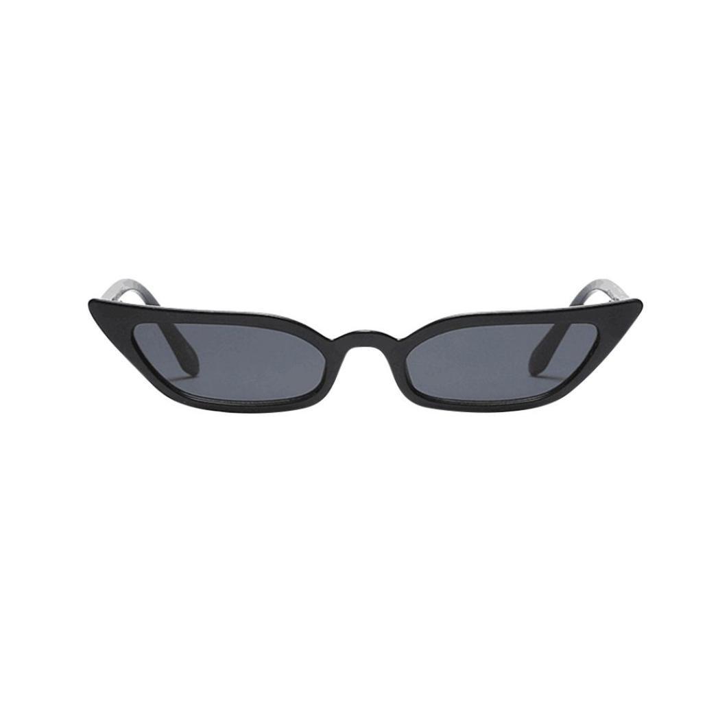 96e5f1120093 Quartly Ladies Fashion Cat Eye Sunglasses Women Vintage Small Frame Retro  Sunglasses UV400 Eyewear Glasses (Black) at Amazon Women s Clothing store