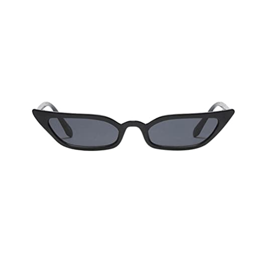 58e3104c36c3 Quartly Ladies Fashion Cat Eye Sunglasses Women Vintage Small Frame Retro  Sunglasses UV400 Eyewear Glasses (Black) at Amazon Women s Clothing store