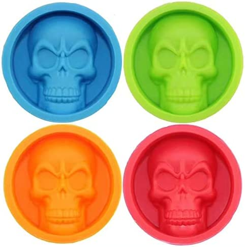 3D Skull Silicone Cake Pudding Chocolate Ice Cube Tray Muffin Pan Mold Mould