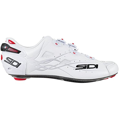 平らにする比類のないチップ(シディ) Sidi Shot Vent Carbon Cycling Shoe メンズ ロードバイクシューズWhite [並行輸入品]