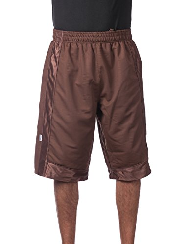 Brown Mens Basketball - Pro Club Men's Heavyweight Mesh Basketball Shorts, X-Large, Brown