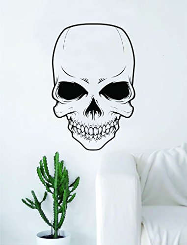 Skull v5 Decal Sticker Wall Vinyl Art Decor Home Living Room Bedroom Skeleton Halloween]()