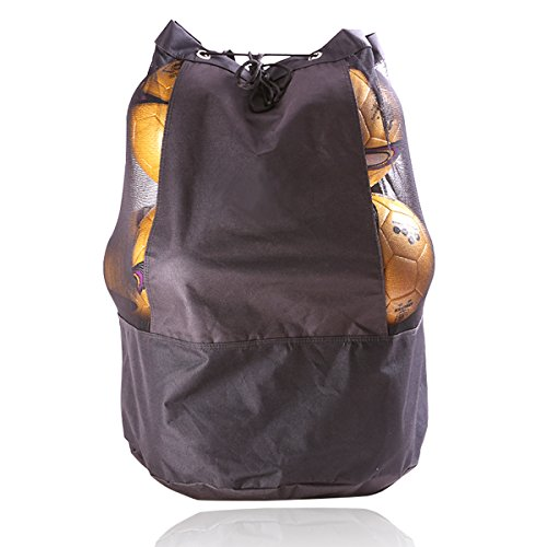 Extra Large Equipment Bag (Mesh Equipment Bag Hight Quality Durable Adjustable Sliding Drawstring Cord Closure,Extra Large Heavy Duty Jumbo Size with Shoulder Strap For Basketball, Volleyball, Football Bag)