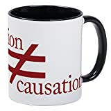 CafePress Correlation Does Not Equal Causation Mug Unique Coffee Mug, Coffee Cup