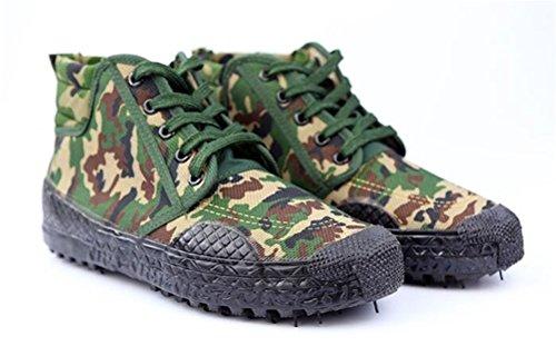 Alltid Ganska Unisex Spets Rörelseskyddsskor Halksäker High-cut Sneaker Kamouflage