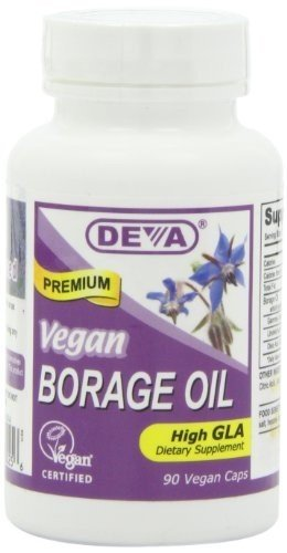 Vegan Borage Oil - Deva Vegan - 90 - VegCap Deva Vegan Borage Oil