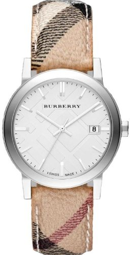 Burberry-Embossed-Silver-Dial-Leather-Textile-Quartz-Ladies-Watch-BU9025