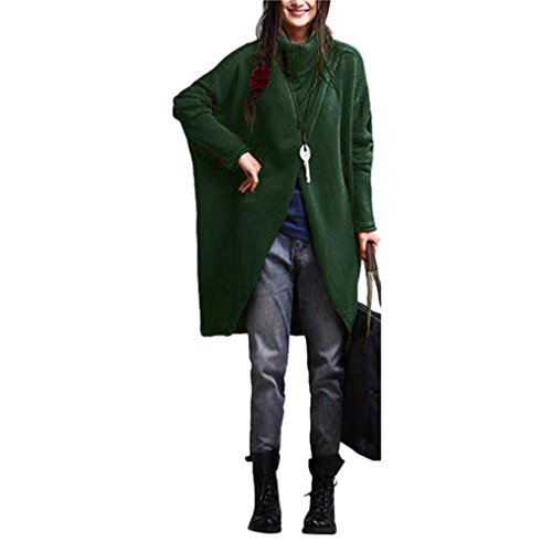 Manteau Laine Vert Chale Tircot Tricotr Pullover Cape Chandail Poncho Femme HZwY47