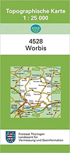 Topographische Karte Thüringen.Worbis 4528 Topographische Karten 1 25000 Tk 25 Thüringen Amtlich
