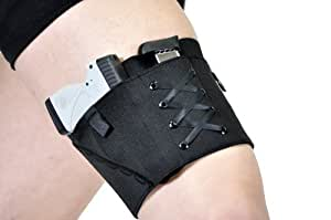 "Gun Holster Garter for Women - Black (Black, Small 17""-19"")"