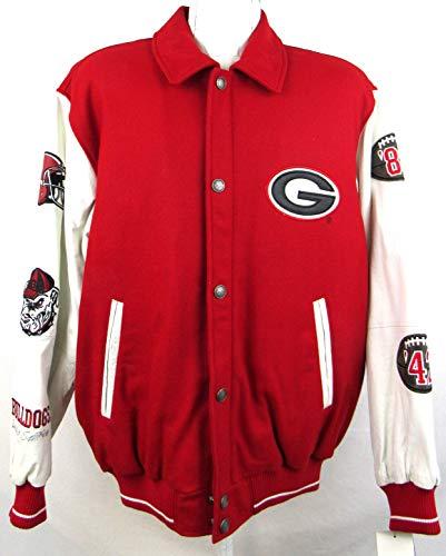 G-III Sports Mens University of Georgia Bulldogs 2X National Champions Wool Blend Leather Varsity Jacket, Size ()