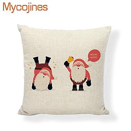 Amazon.com: Snowman Cushion Cover Merry Christmas Cojines ...