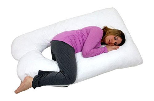 Web Linens Inc U Shaped-Premium Contoured Body Pregnancy Maternity Pillow with Zippered Cover -...