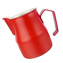 MonkeyJack Professional Frothing Pitcher Opening Design Tea Milk Latte Jug Cup Foam Cup - Red, 500ml