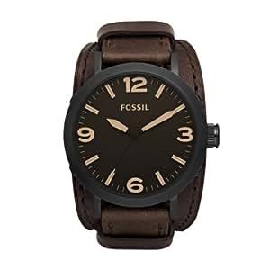 Fossil JR1365 - Reloj analógico de cuarzo para hombre con correa de piel, color marrón
