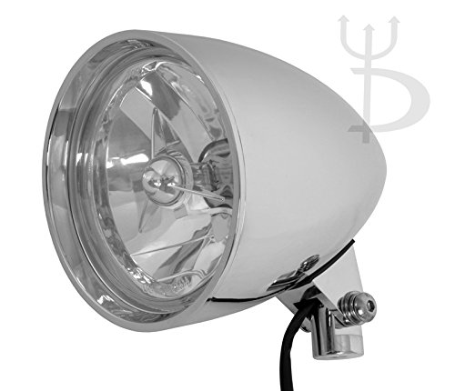 "DEMONS CYCLE Chrome Billet Custom Headlight 5.75"" Tri-Bar DOT for Harley-Davidson Motorcycles"