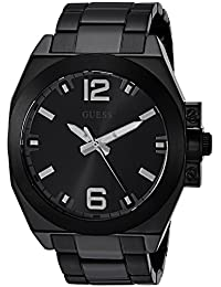 GUESS Men's Quartz Stainless Steel Casual Watch, Color:Black (Model: U0963G2)