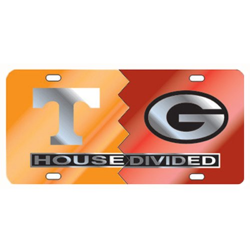 Tennessee Laser - Tennessee Georgia House Divided Laser Cut License Plate