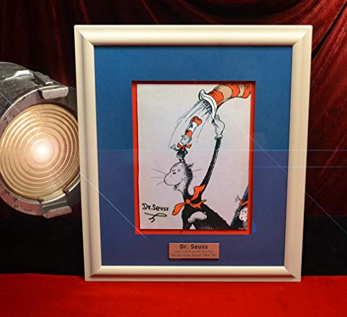 Rare DR. SEUSS AUTOGRAPH on page of CAT IN THE HAT COMES BACK, UACC, COA, Frame, Book, DVD, Plaque