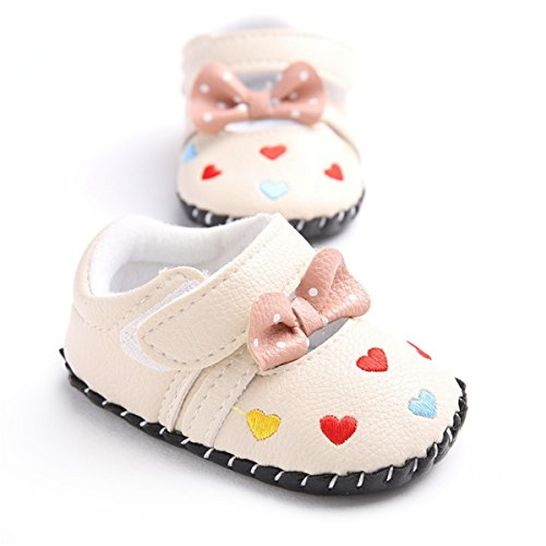 Meckior Infant Baby Girls Sandas Summer Soft Leather No-slip Princess Shoes (6-12months, color 2) by Save Beautiful