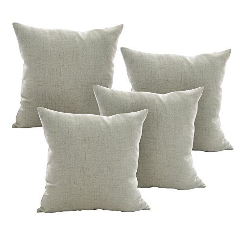 Deconovo Toss Pillow Case Throw Cushion Cover Faux Linen