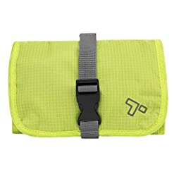 Travel Junkie 4161H99NNVL._SS247_ Travelon Tech Accessory Organizer, Lime, OPEN 13.75 x 6.5 x .1 CLOSED 6.5 x 5 x 1