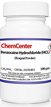 Benzocaine Hydrochloride (HCl), High Purity, 25 grams