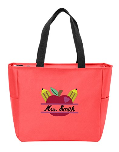 Personalized Canvas Tote Bag with Custom Text | Customizable Teacher