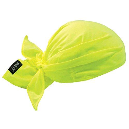 Ergodyne Chill-Its 6710 Evaporative Polymer Cooling Dew Rag, Lime