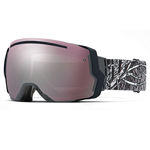 Smith Optics I/O7 Vaporator Series Snocross Snowmobile Goggles Eyewear - Charcoal Stickfort/Ignitor/Red Sensor / Medium