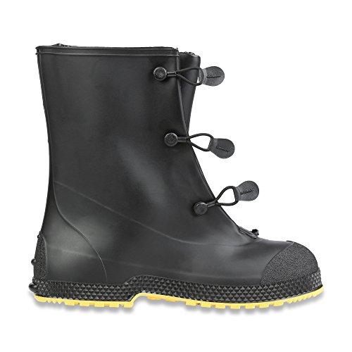 "Servus SuperFit 12"" PVC Dual-Compound Men's Overboots, Black & Yellow (11001-Bagged) - Image 5"