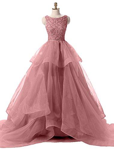 Ballkleider Alt Tuell Damen Festlichkleider Linie Rosa Abendkleid Prinzess Rock Promkleider Charmant Partykleider A Langes P0qx5Ww