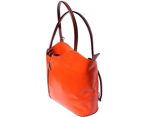 Florence Leather 207 - Bolso mochila  para mujer naranja naranja