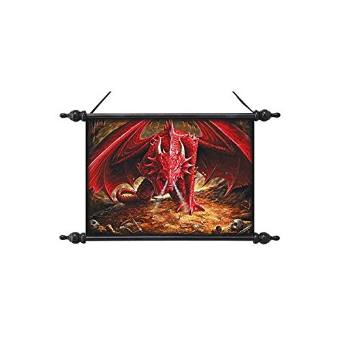 Design Toscano CL75384 Dragons Lair Canvas Wall Scroll by artist Anne Stokes