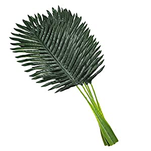 5 Pack Faux Fake Tropical Large Palm Leaves Artificial Palm Plants Leaves Imitation Leaf Artificial Plants for Home Party Wedding Decorations 1
