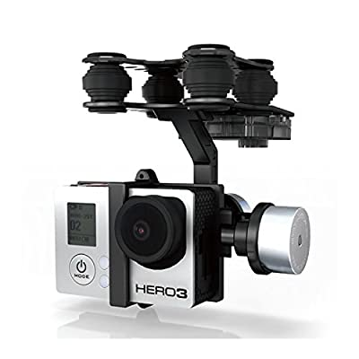 MAUBHYA Walkera G-2D Brushless Gimbal Metal Version For iLook/GoPro Hero 3 Camera on Walkera QR X350 Pro RC by MAUBHYA