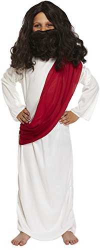 Henbrandt Childrens, Nativity Joseph costume. Robe with attached drape - Small Ages 4-6 ()