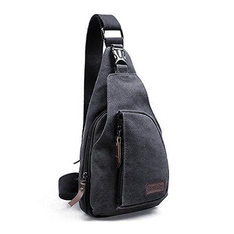 0b8b6fe270 Zaino Monospalla, Borsa a Tracolla Tela Borsello Petto Uomo Donna Sling Bag  Chest Bag per