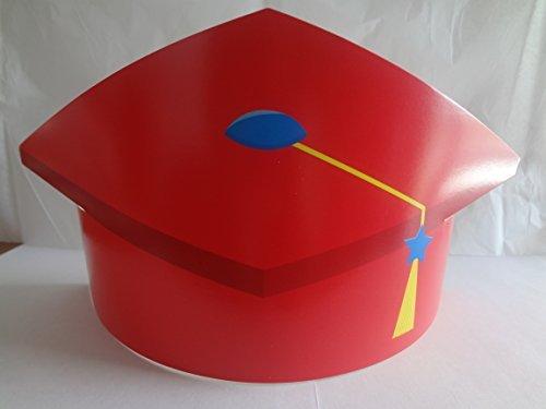 Kids Graduation Hat (Children's Resizeable Graduation Hats ~ Red (6 Pieces))