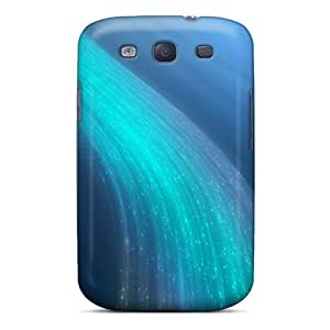 New Style Mwaerke Hard Case Cover For Galaxy S3- Bluewave