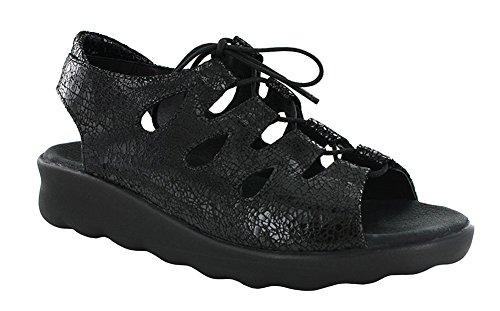Sandaletten Wolky 3204300 Damen Leder NV Schwarz 80120 Altweiß 278854 1vqgqw