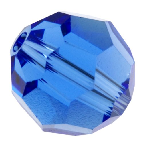 Swarovski 6mm Sapphire 5000 Round Crystal Beads - Pack of 10