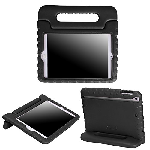 HDE Kids Case for iPad Mini 2 3 -Shock Proof Rugged Heavy Duty Impact Resistant Protective Cover Handle Stand for Apple iPad Mini 1 2 3 Retina (Black)