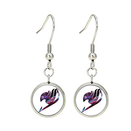 Fairy Tail Dangle Earrings Anime Manga TV Comics Movies Cartoon Superhero Logo Theme Premium Quality Detailed Cosplay Jewelry Gift Series