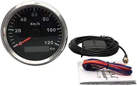 ELING Waterproof KM GPS Speedometer Odometer 120KM//H for Car Motorcycle Tractor Truck with Backlight 85mm 12V//24V