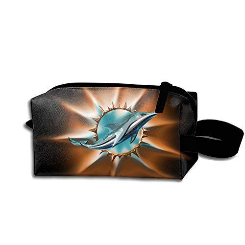 scakoko Miami Dolphin Travel Bag Printed Multifunction Portable Toiletry Bag Cosmetic Bag Jewelry Storage Bag Organizer Travel ()