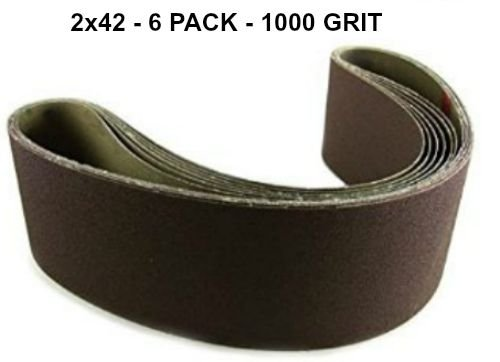 2x42 - 1000 Grit 6 Pack - Premium Silicon Carbide Knife S...